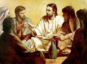Jesus shares morsel wih Judas